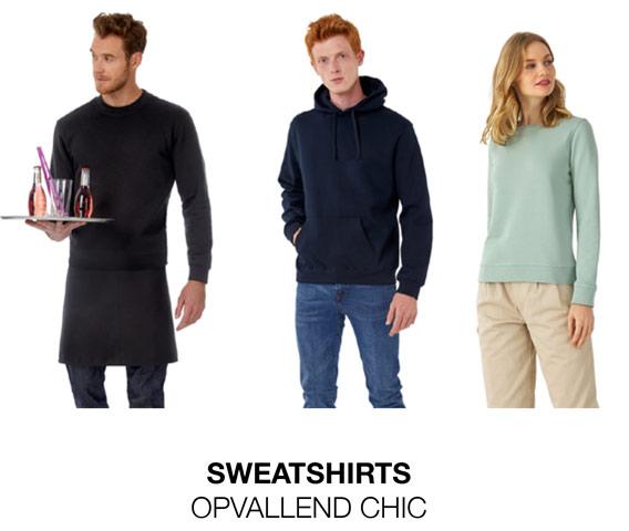 Sweatshirts strikingly chic